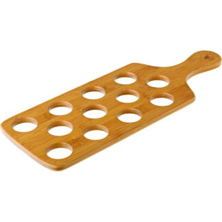 Bamboo Shot Paddle to hold 12 Shots